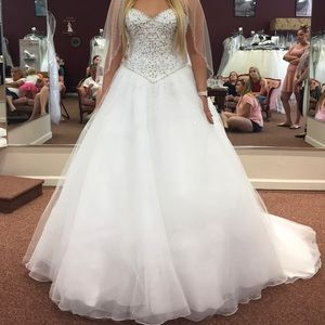 Morilee Wedding dress with crystal beading